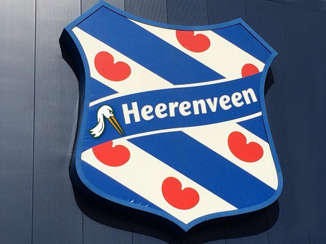 Haagse ooievaar, in logo van s.c. Heerenveen geland
